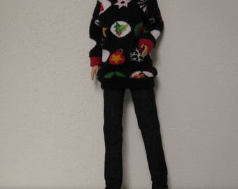 Barbie-Fashion Royalty-Poppy Parker Christmas sweater