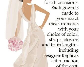 Custom Gown for Regina