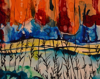 Fall: Abstract Alcohol Ink Art