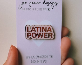 Latina Enamel Pin - Latina Power - Feminist Pin - Latinx - Latina Pins - Latina Pride - Stocking Stuffer - Latina - Chingona Pin - Pins
