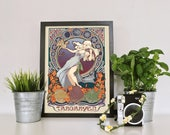 Daenerys Game of Thrones Poster | fanart print, game of thrones, GoT, TV, Stark, Gift, Danny