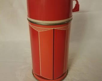 Vintage King Seeley Red Thermos