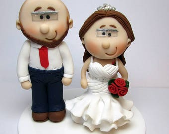 Bride And Groom  Wedding Cake Topper, Personalised, Custom made to order, wedding