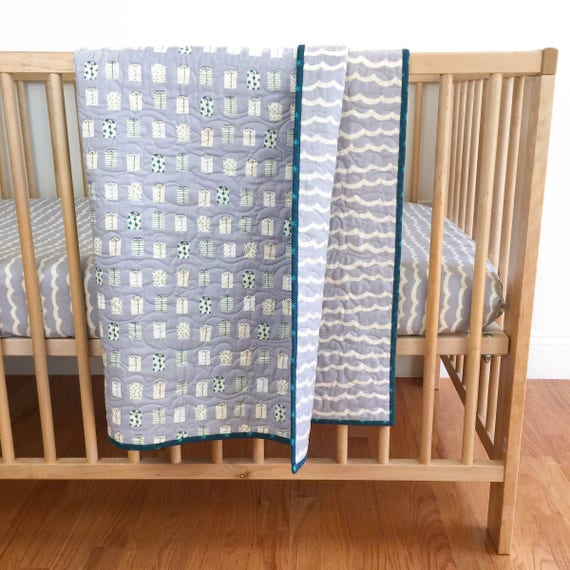 Wholecloth Quilt - Kujira in Fog - READY-to-SHIP
