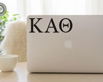 Kappa Alpha Theta Decal - KAO - Theta Decal - Theta Laptop Sticker - Kappa Alpha Theta Car Decal - Theta Gift - Kappa Alpha Theta Gift