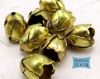 Handmade Brass Flower Bells--1 Pc. | 26-FLRBM-1