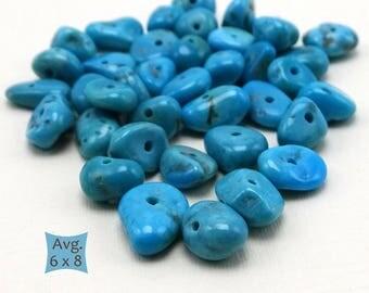 Genuine Sleeping Beauty Mine Turquoise Nuggets—10 Pcs. | SB T400-10