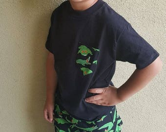 Boys Shorts, Cargo Pocket Shorts, Rockin' Gators Fabric