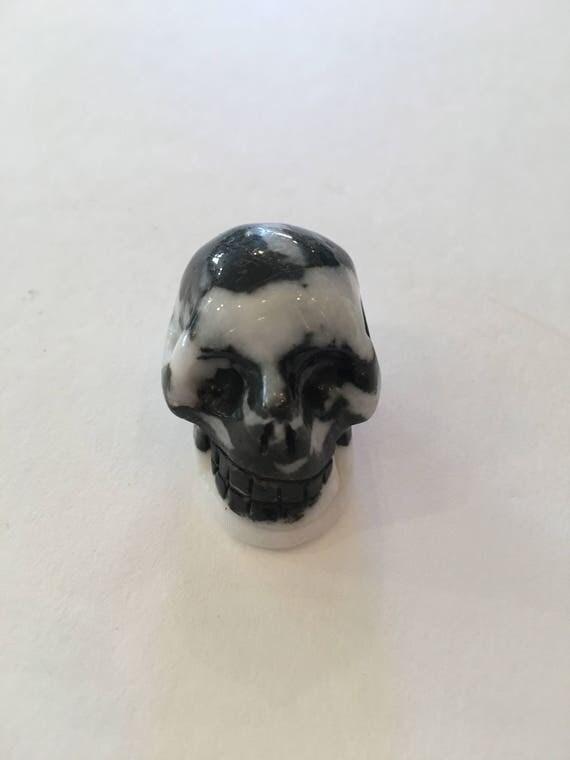 ZEBRA JASPER Skull// Carved Skull// Healing Gemstones// Home Decor/ Healing Tools// Crystal Skull// Jasper/ ROOT Chakra Stone// Zebra Jasper