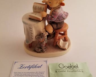 Goebel M.j. Hummel 'Little Bookkeeper' Hum 306 TMK-6 Figurine W/ Original Box #809