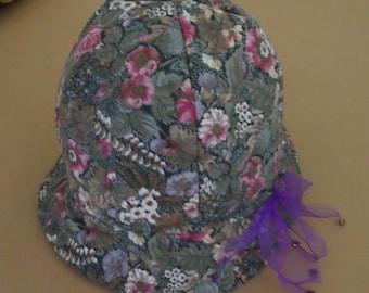 Girls cotton calico floppy hat