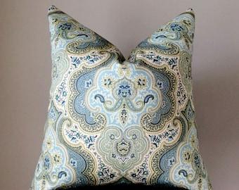 Blue Pillow cover, Throw pillow, Blue Aqua Decorative Pillow, Couch pillow cover, Home Decor, accent pillows