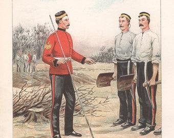Royal Engineers, Chromolithograph, 1891.