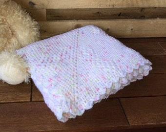 Crochet baby blanket throw afghan White baby throw handmade newborn baby blanket pram cot crib bassinet baby bedding gift Etsy Australia