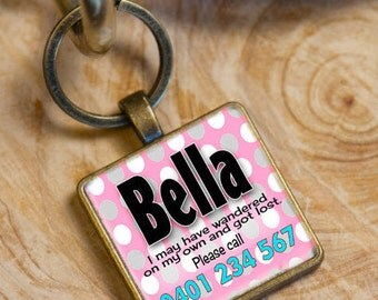 Dog Tag - Personalized Dog ID Tag -  Cat Name Tag - ID Tag -  Pet ID Tag -  Collar Tag -  Dog Tag - Name Tag - Handmade