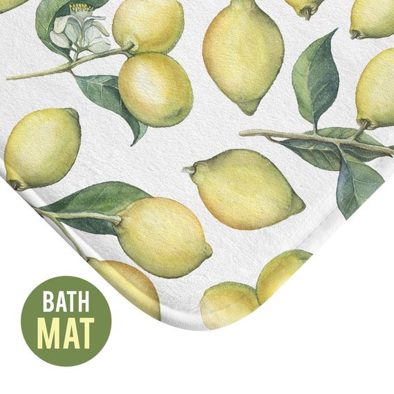 Lemons Bath Mat - Available in Two Sizes