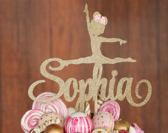 Gymnastic Cake Topper, ANY NAME COLORS, Dancer Cake Topper, Gymnastic Birthday Party, Gymnastic Decoration, Girls Birthday Party, Sports