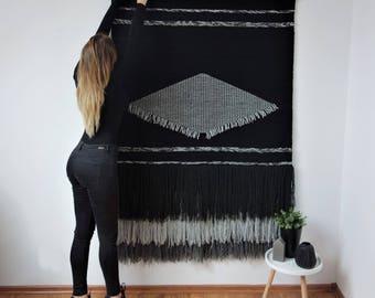 bohemian yarn tapestry, woven wall hangings, boho decor, boho headboard, bohemian wedding decor, macrame wedding backdrop, bohemian curtain