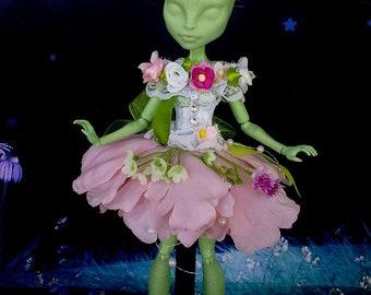Monster high clothes, MH clothes, monster high outfit, handmade, Flower fairy