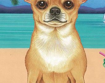 Chihuahua Beach Towel  48046