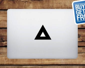 Triangle - Macbook Apple Decal Sticker / Laptop Decal / Apple Logo Cover / 2 for 1 price