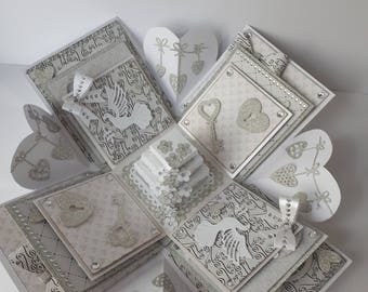 Silver Wedding Exploding Box, Wedding Explosion Box, Silver Wedding, 25 Years, Wedding Gift, Wedding Keepsake, Wedding Anniversary