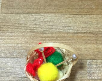 Dollhouse sewing basket
