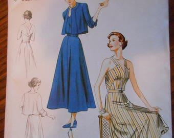 New Womens 1949 Retro Historical Dress Pattern - Sizes 6-14