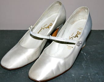 Vintage Wedding Shoes bally 1960/Vintage Wedding Shoes 60th