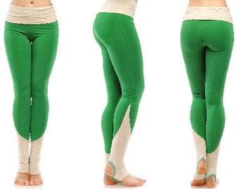 Yoga pants with spats, yoga pants women, yoga leggings, heel leggings, cotton yoga pants, sweat pants women
