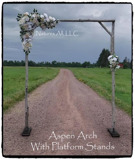 Aspen Wedding Arch/Aspen Arbor/Complete Kit For Indoor Or Outdoor Weddings/Rustic Wedding Backdrop/Shipping Included