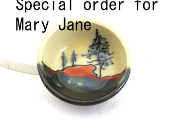 Salt Dish, Pine Tree Design, Special order for Mary Jane