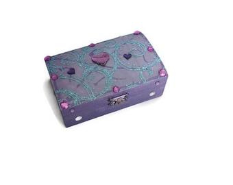 Jewelry box purple baroque