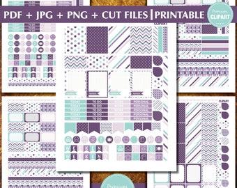 Fits Erin Condren planner stickers, Monthly Printable Planner Stickers, Decorative Planner Stickers, Printable Planner - ST107
