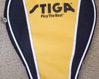 Stiga Ping Pong Paddle Cover - Padded with Zipper open/close