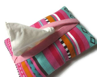 pouch for tissues, ethnic, bright colors