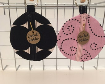 Earbud Holder Black OR Pink