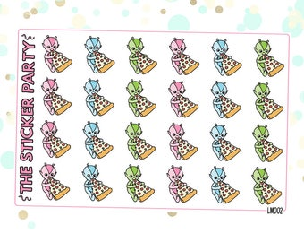Lumi Pizza Planner Stickers
