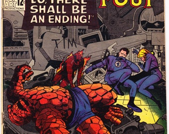 Fantastic Four 43 comic, 1965, Jack Kirby art, Silver Age book, The Human Torch. Vintage Marvel Comics in FN (6.0)