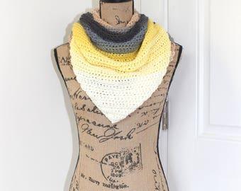 Handmade Crochet Doven Shawl, Lion Brand Mandala Yarn in Serpent