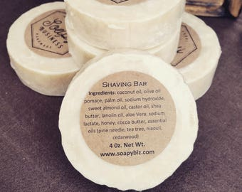 Shaving Soap Bar SUPER thick moisturizing lather AND great with a bowl and brush **FREE Shipping**