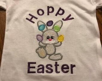 Boy Easter shirt, Boys Easter t shirt, Bunny Rabbit t shirt, Hoppy Easter shirt, Juggling bunny, Easter eggs, Easter Egg shirt, Easter shirt