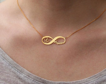 Personalized Infinity Name Necklace • Custom Necklace • Personalised Jewelry • Infinity Necklace • Wedding Gift • Gift for her