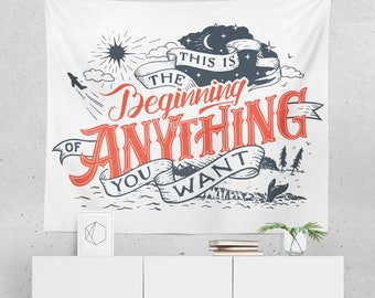 Inspirational Tapestry | Inspirational Wall Décor | Inspirational Wall Tapestry | Inspirational Gift | Inspirational Wall Art | Inspirationa