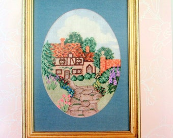 """CROSS STITCH KITS*//""""Ashton Hall""""/ by Serendipity. A Vintage  Counted Cross Stitch kit of The Ashton Hall in England. //Sale!!"""