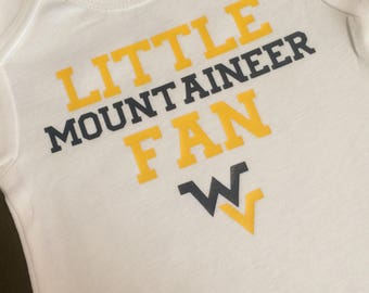 West Virginia Baby Onesie, WVU, Mountaineer Baby
