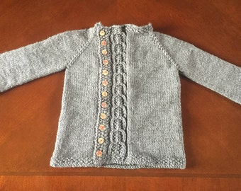 Knit baby cardigan / baby sweater / baby shower gift / birthday gift / Christmas gift