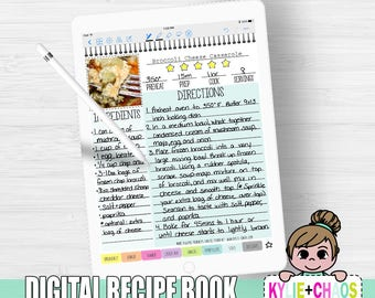 Digital Recipe Book for GoodNotes on IPhone and IPad