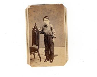 Boy antique cdv photo