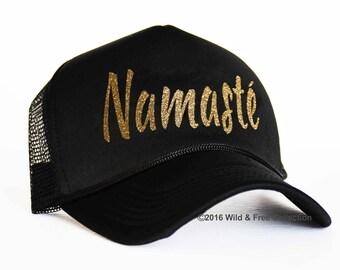 Namaste trucker hat | Namaste snap back cap | Yoga hat